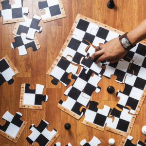 rompecabezas de tablero de ajedrez