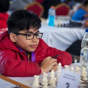 niño jugando ajedrez solo